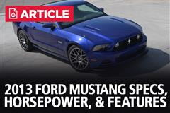 2013 Ford Mustang Specs, Horsepower, & Features