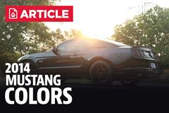 2014 Mustang Colors, Color Codes, & Photos