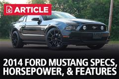 2014 Ford Mustang Specs, Horsepower, & Features