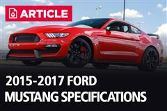 2015-2017 Ford Mustang Specifications