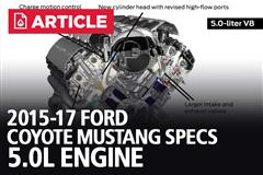 2015-17 Ford Coyote Mustang Specs 5.0L Engine