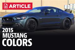 2015 Mustang Colors & Paint Codes
