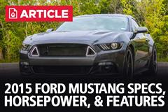 2015 Ford Mustang Specs, Horsepower, & Features