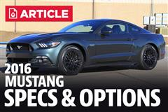 2016 Ford Mustang Specs