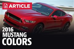 2016 Mustang Colors, Color Codes, & Photos