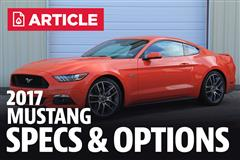 2017 Ford Mustang Specs