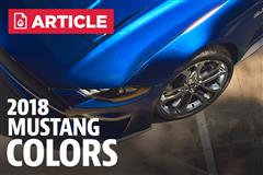 2018 Mustang Color Options
