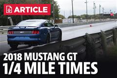2018 Mustang GT 1/4 Mile Time