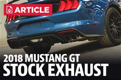 2018 Mustang Stock Exhaust