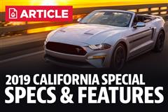 2019 Mustang California Special Horsepower, Specs, & Features
