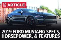 2019 Ford Mustang Specs, Horsepower, & Features