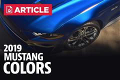 2019 Mustang Colors - Options, Photos, & Color Codes