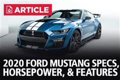 2020 Ford Mustang Specs, Horsepower, & Features