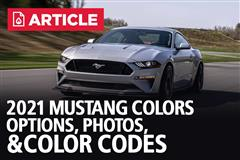 2021 Mustang Colors | 2021 Mustang Paint Codes