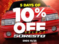 Catch Fox Fever! 10% OFF Select 5.0 Resto Parts!