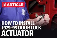 How To Install Fox Body Mustang Door Lock Actuator (87-93)