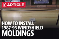 How To Install Fox Body Mustang Windshield Moldings (87-93)