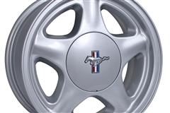 79-93 Mustang Pony Wheels: Silver/Chrome