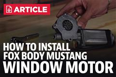 How To Install Fox Body Mustang Window Motors (87-93)