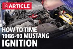 How To Time Your Mustang Ignition (86-93)