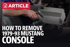 Mustang Console Removal With Video (87-93)