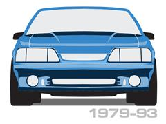1990-1993 Mustang Convertible Styling Bars