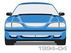 1994-2004 Mustang Body Side Moldings & Kits
