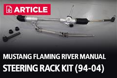 1994-2004 Mustang Flaming River Manual Steering Rack Kit