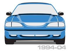 1994-2004 Mustang Scuff Plates