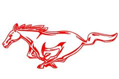 1994-2004 Mustang Running Horse Decals