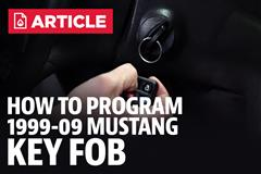 How To Program A Mustang Key Fob (99-09)