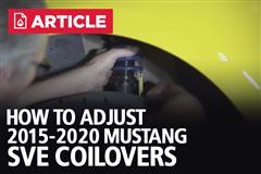 How To Adjust 2015-20 Mustang SVE Coilovers | S550 Coilover Adjustment