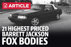 21 Highest Priced Fox Bodies At Barrett Jackson Scottsdale 2018