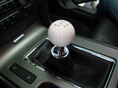 barton mustang shift knob chrome adapter white 11 14. Black Bedroom Furniture Sets. Home Design Ideas
