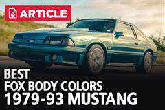 Best Fox Body Mustang Colors | 1979-93
