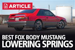 Best Lowering Springs For Fox Body Mustang