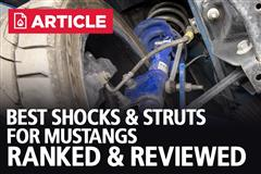 Best Shocks & Struts For Mustang | Ranked & Reviewed