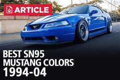 Best SN95 & New Edge Mustang Colors | 1994-04