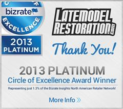 Bizrate 2013 Platinum Circle of Excellence Award
