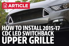 How To Install Mustang CDC Outlaw Switchback Upper Grille (15-17)