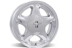Chrome Mustang Pony Wheels