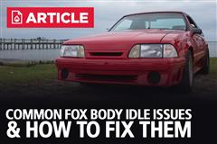 Common Fox Body Idle Issues & How To Fix Them