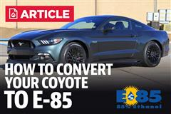 How To Convert Your Coyote Mustang To E-85