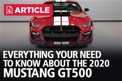 Everything You Need To Know About The 2020 Mustang GT500