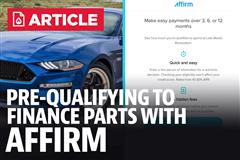 Financing Mustang Parts - Affirm Prequalification