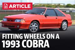 Fitting 4 Lug Aftermarket Wheels On A 1993 Cobra