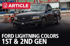 Ford Lightning Colors | 1st & 2nd Gen