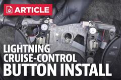 How To Install Ford Lightning Cruise Control Buttons (99-04)
