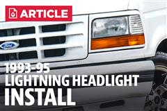 How To Install Ford Lightning Headlights (93-95)