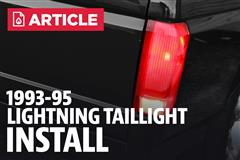 How To Install Ford Lightning Tail Lights (93-95)